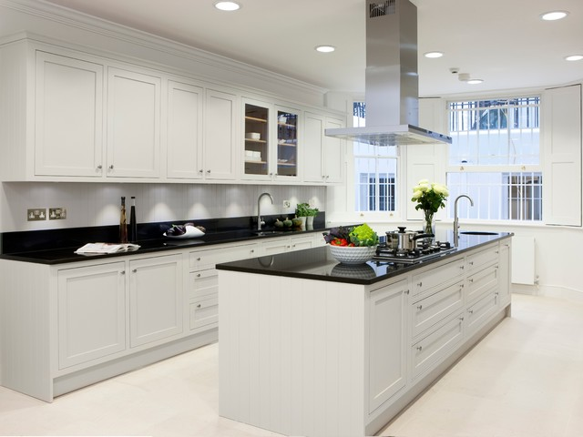 Chalk Paint Kitchen Cabinets Kitchen Traditional with Basement Kitchen Bespoke Black