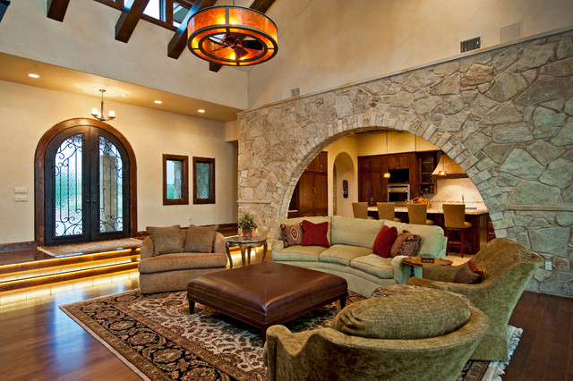 Chandelier Ceiling Fan Living Room Traditional with Accent Wall Beige Armchair