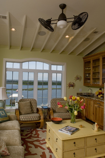 Chandra Rugs Family Room Beach with Area Rug Ceiling Fan