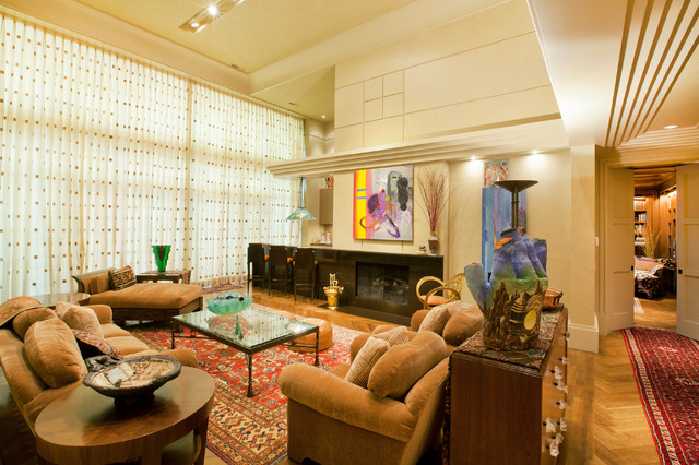Charleston Homes Omaha Living Room Contemporary with Abstract Art Beige Armchair