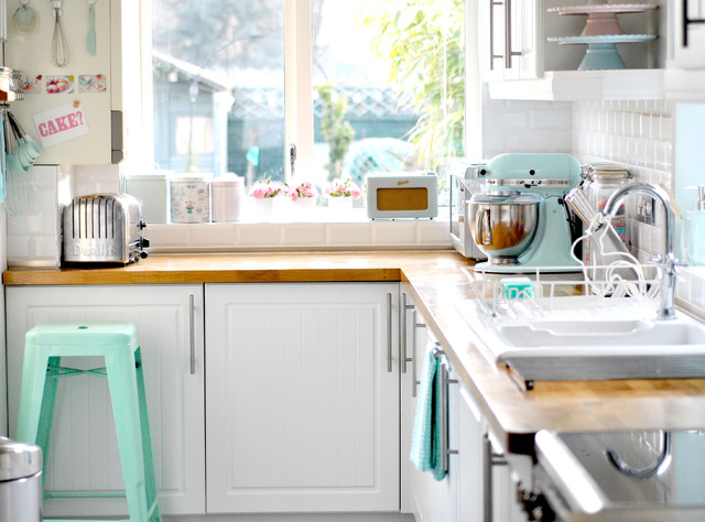 Cheap Backsplash Ideas Kitchen Eclectic with Beadboard Cabinets Kitchen Pastel