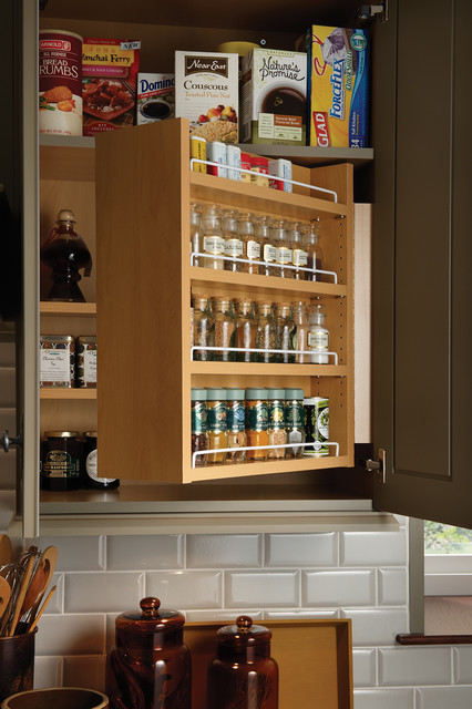 Cheap Backsplash Ideas Kitchen Traditional with Built in Spice Rack Cabinet
