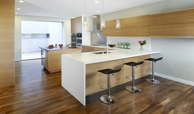 cheap barstools Kitchen Modern with baseboards ceiling lighting eat