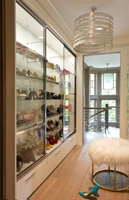 cheap closet organizers Closet Transitional with Antique Flooring cabinet lighting