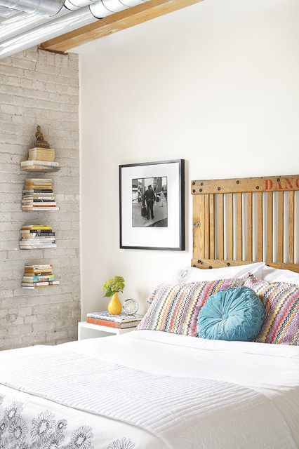 Cheap Nightstands Bedroom Industrial with Artwork Bed Pillows Bedside