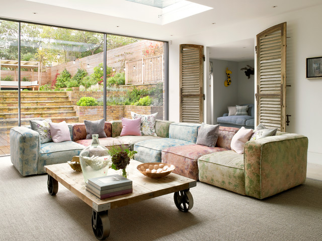 Cheap Patio Cushions Living Room Contemporary with Basement Excavation Basement Walkout