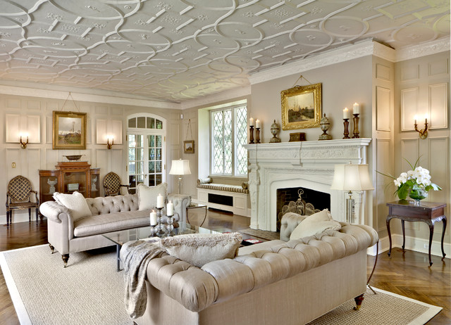 Chesterfield Sofa Living Room Traditional with Area Rug Baseboards Chesterfield