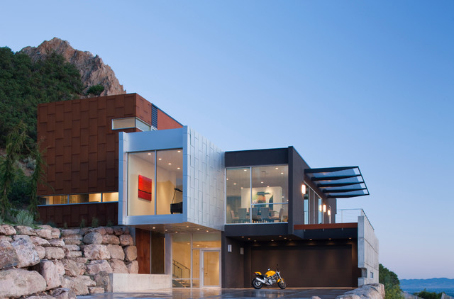 Christy Sports Boulder Exterior Contemporary with Awning Balcony Balcony Lighting