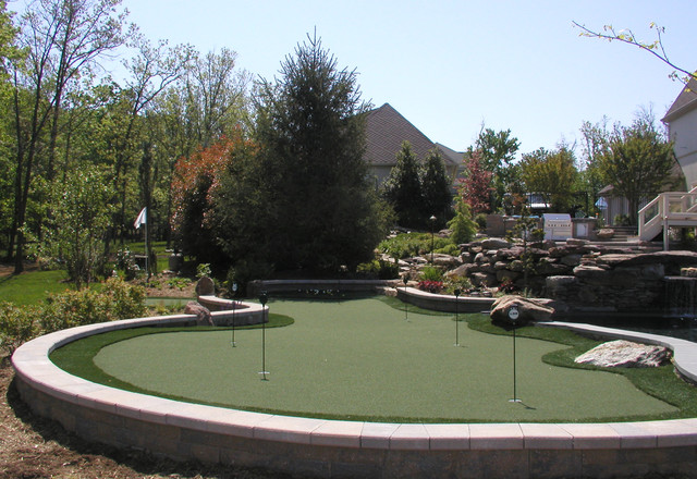 Christy Sports Boulder Landscape Contemporary with Artificial Turf Boulders Putting