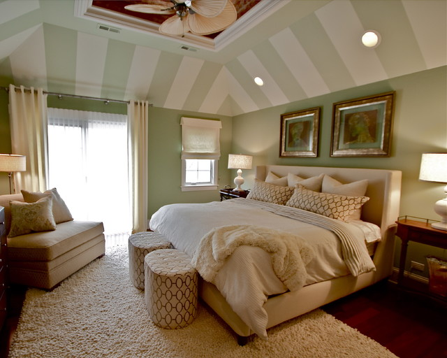 Circus Tents Bedroom Transitional with Accent Ceiling Area Rug