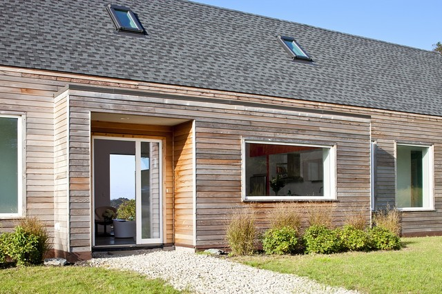 Clapboard Siding Entry Farmhouse with Cedar House Eco Friendly Entry