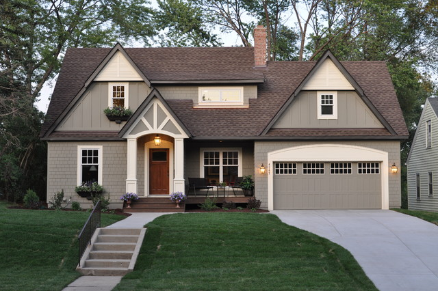 clark and kensington paint Exterior Traditional with board and batten driveway