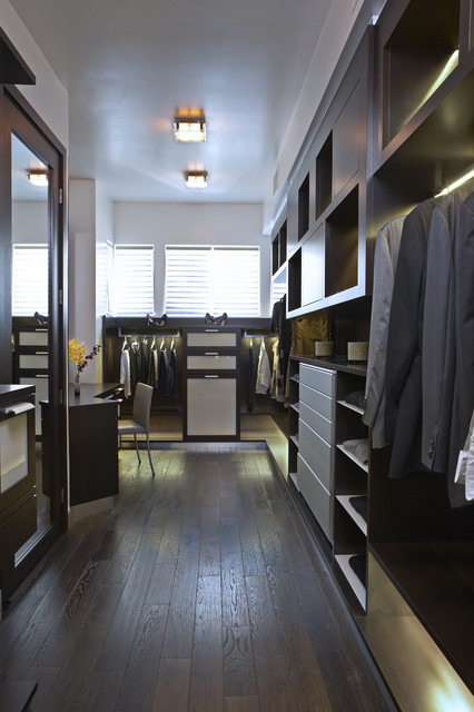 Closet Shelving Systems Closet Contemporary with Ceiling Light Dark Wood