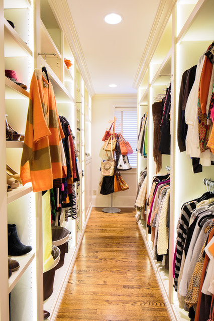 closet systems ikea Closet Traditional with accent lighting adjustable shelves