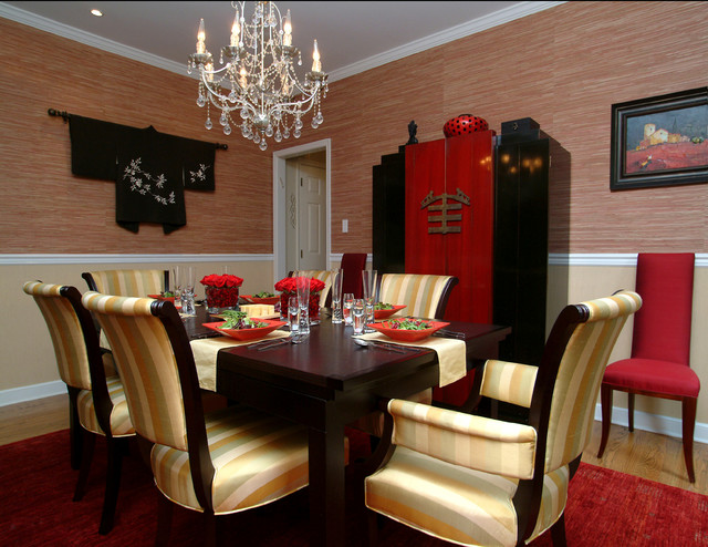 Clothes Armoire Dining Room Asian with Armoire Centerpiece Chandelier Dining