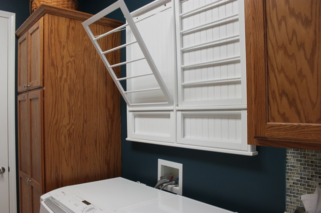 Clothes Hanger Rack Laundry Room Traditional with Categorylaundry Roomstyletraditionallocationkansas City