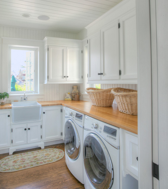 Clothes Hanger Rack Laundry Room Traditional with Airy Beach Beach Cottage
