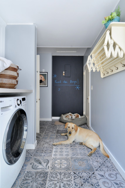 Clothes Hanger Rack Laundry Room Traditional with Blackboard Paint Chalkboard Paint