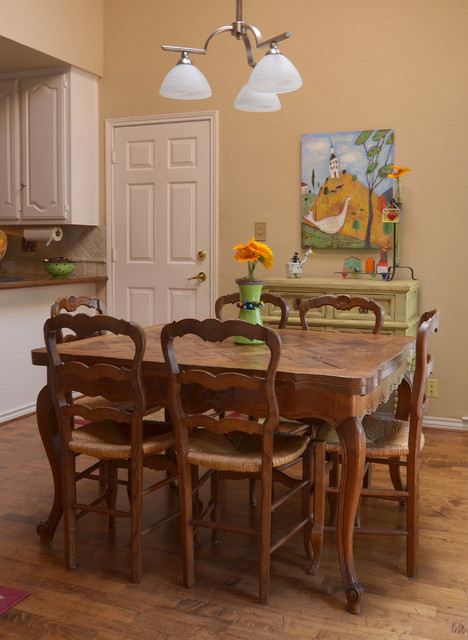 Colanders Dining Room Eclectic with Art Baseboard Cabriole Legs
