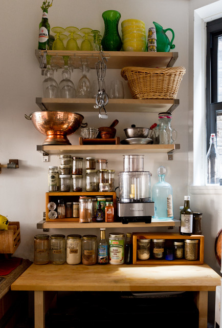 Colanders Kitchen Eclectic with Mason Jars My Houzz