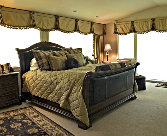 Comforters and Duvets Bedroom Traditional with Bedding Window Treatments