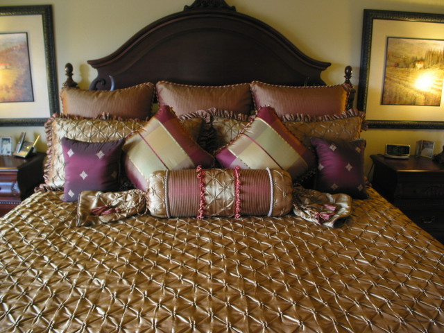 Comforters and Duvets Bedroom Traditional with Bedspread Euro Shams Gold
