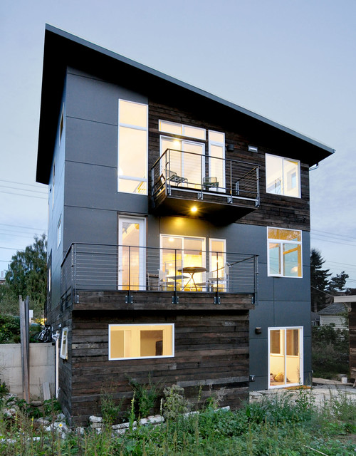 Composite Lumber Exterior Contemporary with Balcony Deck Douglas Fir