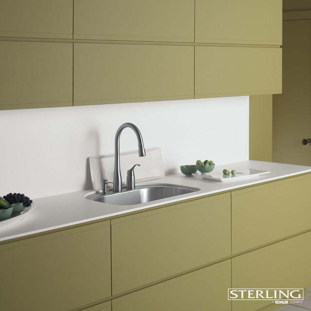 Concrete Stepping Stones Kitchen Contemporary with Sleek Kitchen Yellow And