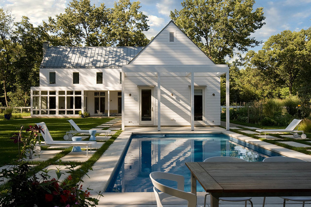Concrete Stepping Stones Pool Traditional with Backyard Blue Garden Stools