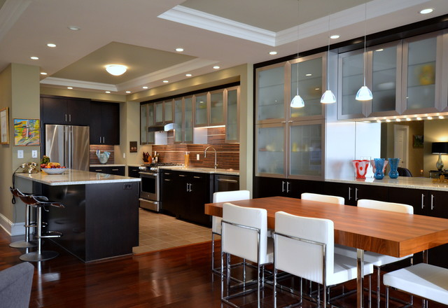 Conestoga Cabinets Kitchen Contemporary with Breakfast Bar Ceiling Lighting