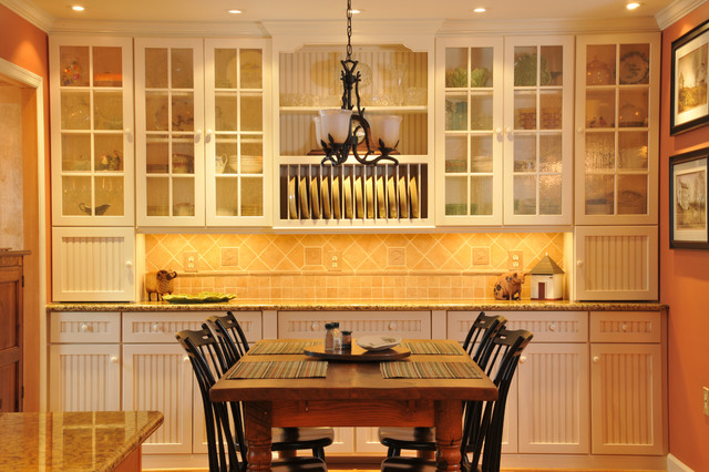 Conestoga Cabinets Kitchen Traditional with Beadboard Chandelier Crown Molding