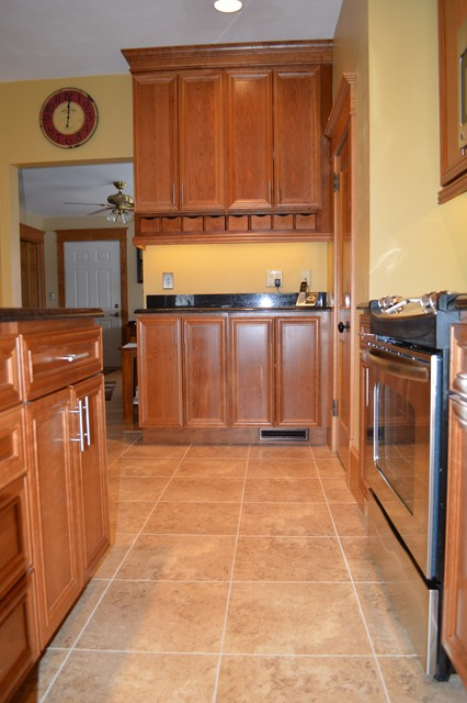 Congoleum Duraceramic Kitchen Traditional with Black Granite Counter Tops