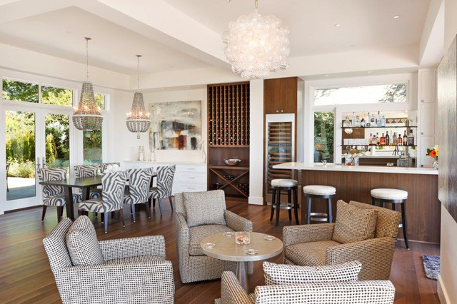 Contract Furnishings Mart Family Room Contemporary with Armchairs Bar Bar Area
