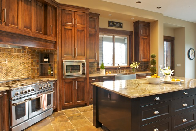 Contract Furnishings Mart Kitchen Traditional with 48 Range Beige Granite