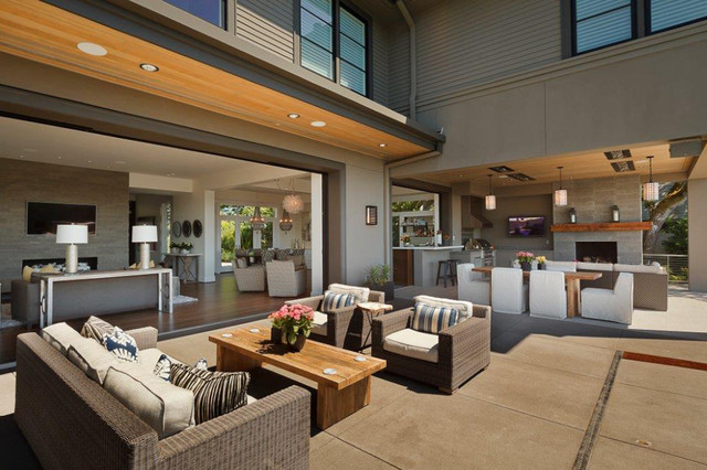 Contract Furnishings Mart Patio Contemporary with Barnwood Coffee Table Contemporary