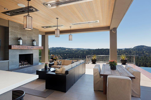Contract Furnishings Mart Patio Contemporary with Contemporary Craftsman Covered Patio