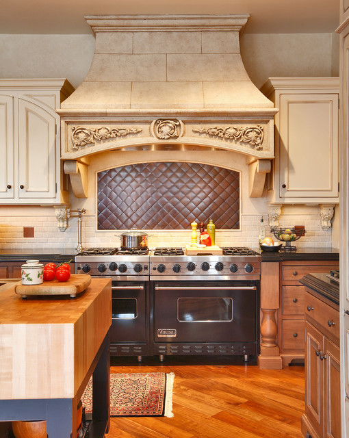 Copper Backsplash Kitchen Traditional with Area Rug Backsplash Black