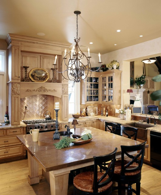 Copper Backsplash Kitchen Traditional with Eat in Kitchen English Country