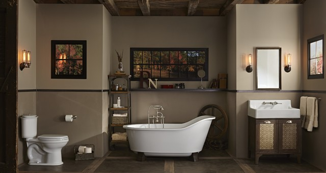 Copper Bathtub Bathroom Contemporarywith Categorybathroomstylecontemporary