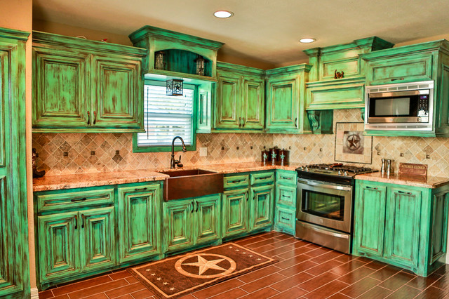 Copper Farmhouse Sink Kitchen Traditional with Beige Ceiling Beige Granite
