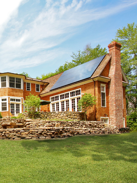 Copper Gutters Exterior Contemporary with Energy Star Home Solar