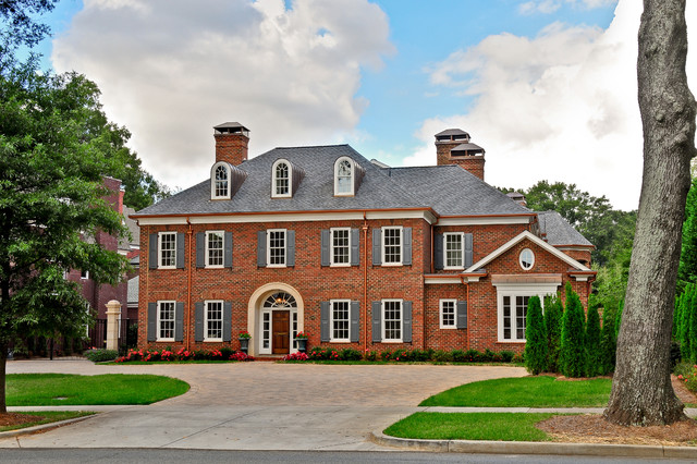 Copper Gutters Exterior Traditional with Brick Colonial Exterior Grand