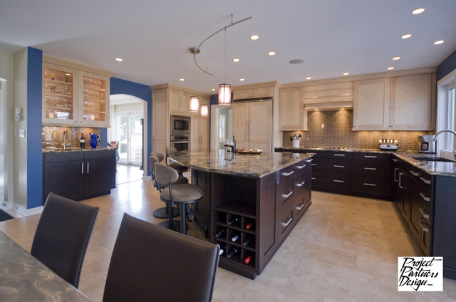 Cork Flooring Pros and Cons Kitchen Eclectic with Blue Dark Island Kitchen