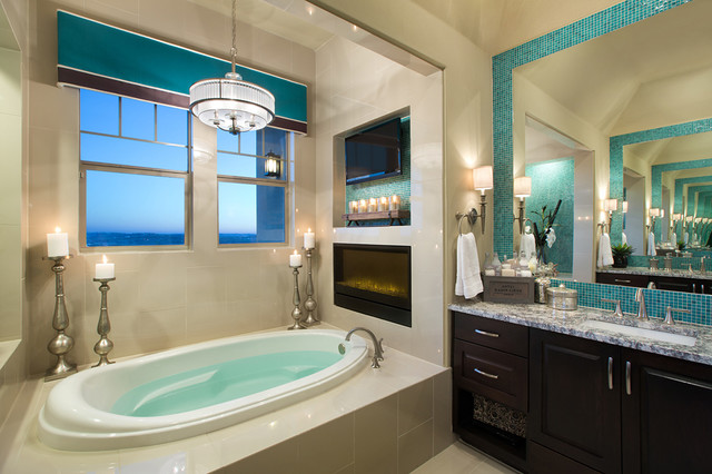 Cornices Bathroom Contemporary with Aqua Cornice Aqua Tile