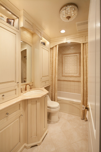 Cornices Bathroom Traditional with Built in Cabinets Ceiling
