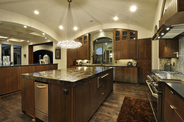 Cosmos Granite Kitchen Mediterranean with Bubble Lights Ceiling Lighting