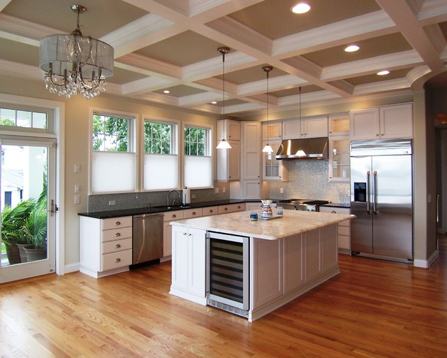 Cost of Quartz Countertops Kitchen Traditional with Black Countertops Ceiling Lighting