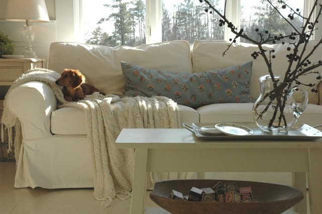 Couch Slipcover Living Room Eclectic with Cottage Farmhouse Living Room