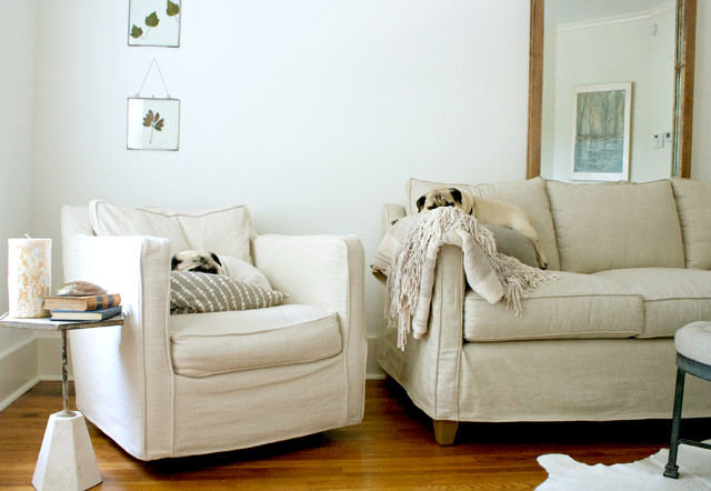Couch Slipcover Living Room Transitional with My Houzz