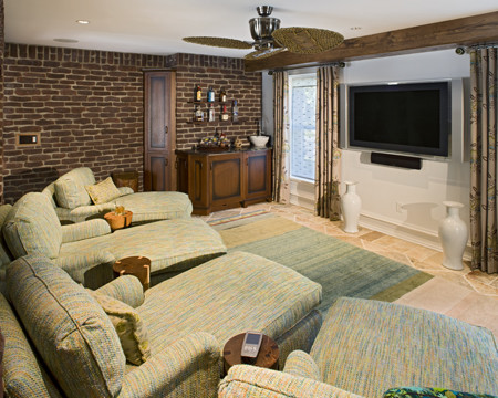 couch with chaise lounge Home Theater with CategoryHome TheaterLocationPhiladelphia